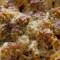Macarrones gratinados con salchichas