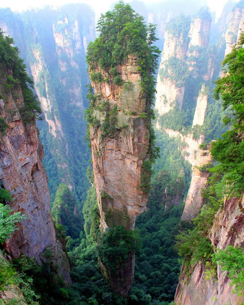 Montaña Tianzi China