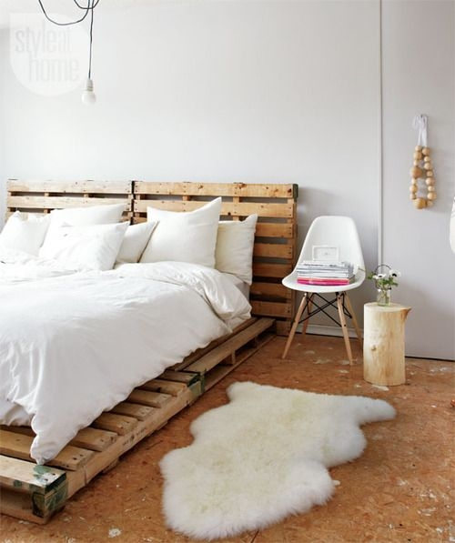 cama con pallets