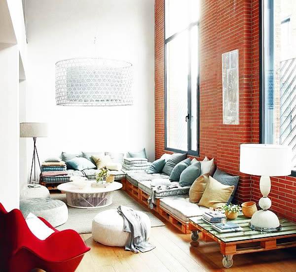 muebles de salon con palets