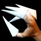 garras de papel o garras origami