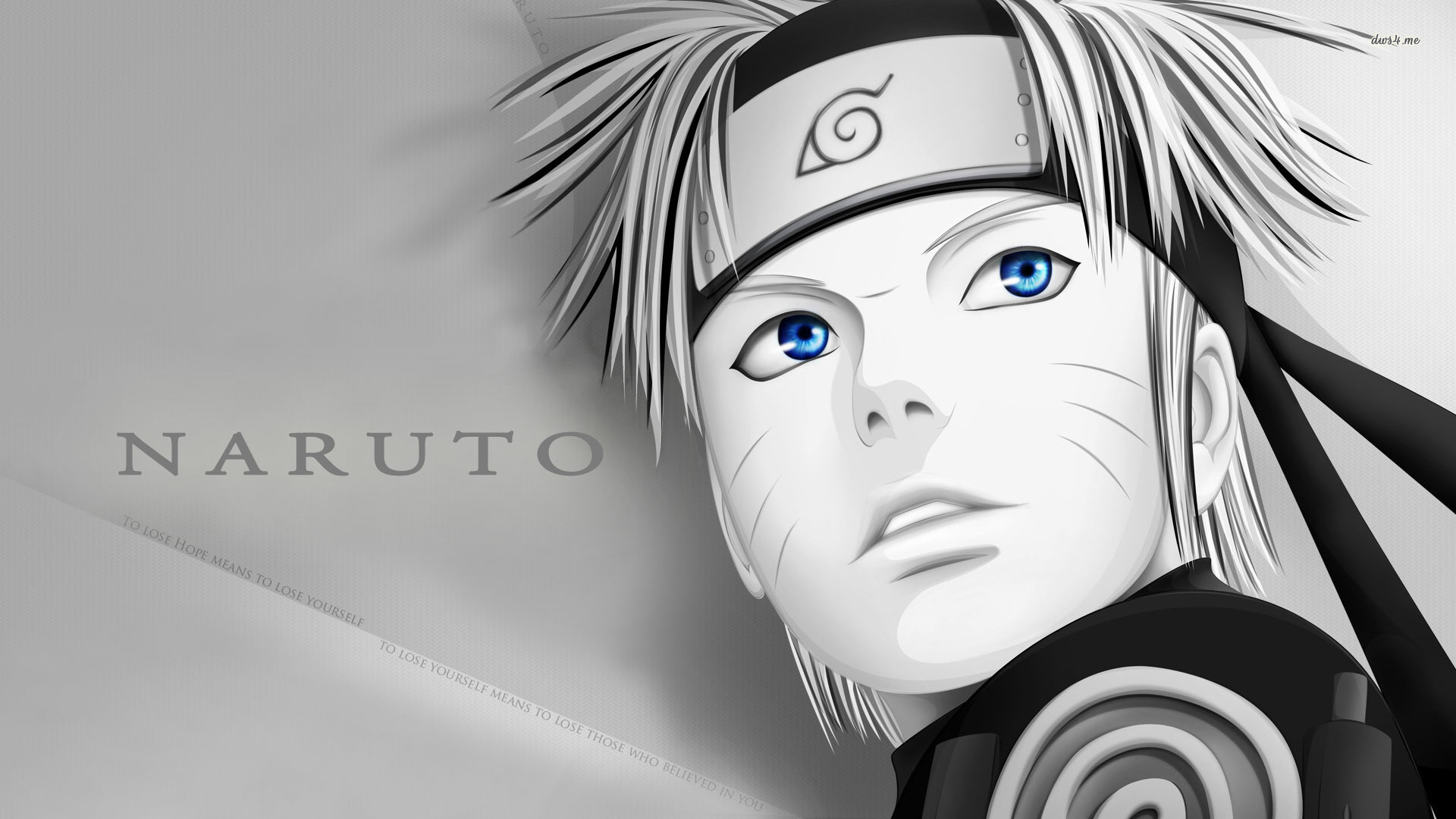 Naruto Wallpaper Blanco y Negro  Rincon Util