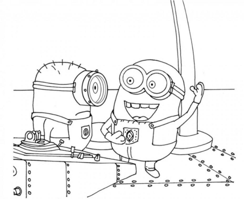 Dibujos Para Colorear De Los Minions Para Imprimir: Colorear A Los Minions