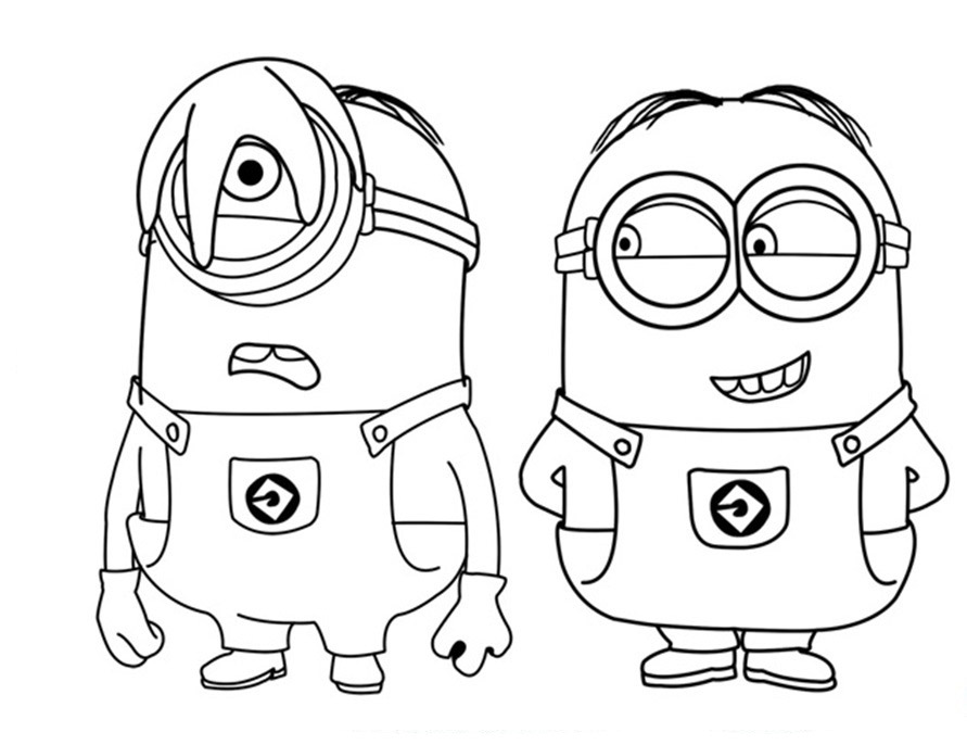 Free The Dog In The Minion Coloring Pages