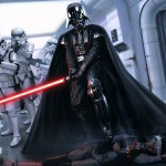 Wallpaper Darth Vader y soldados clon