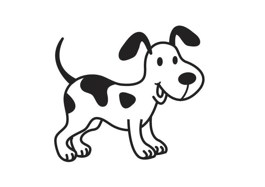 perro para colorear - Rincon Util