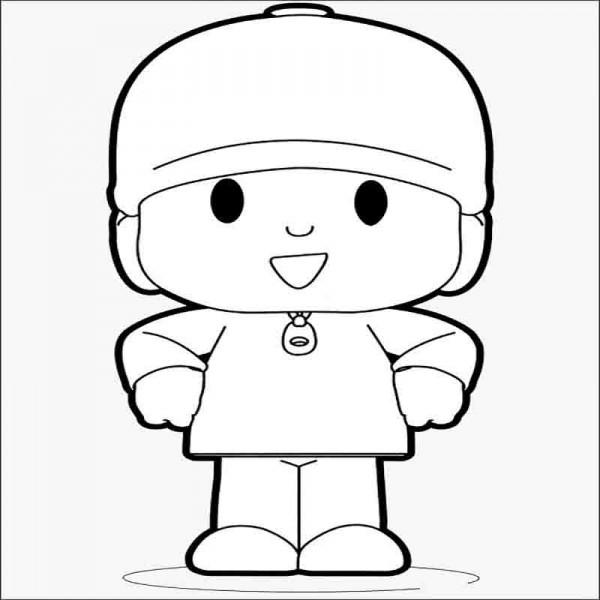 Dibujo Pocoyo para pintar Rincon Util