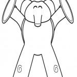 Elefante de Pocoyo para colorear