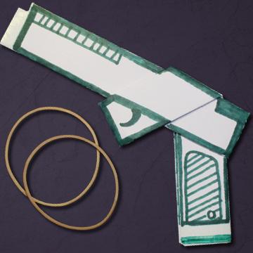 Cómo hacer una Pistola de papel