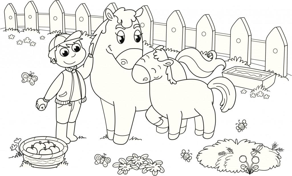 Animales de granja para colorear - Rincon Util