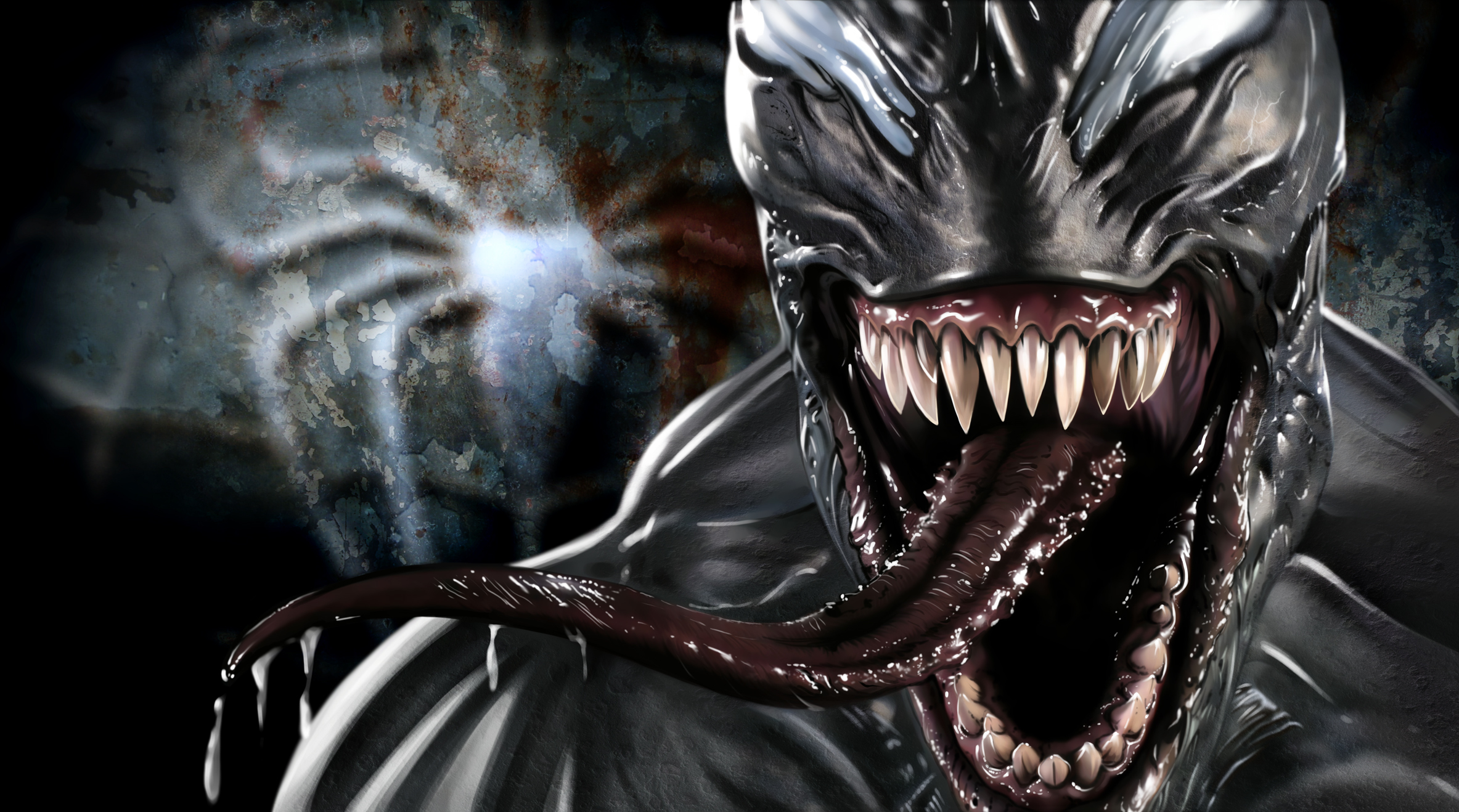 Cara de Venom Wallpaper