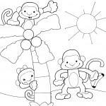 Dibujos Monos para colorear