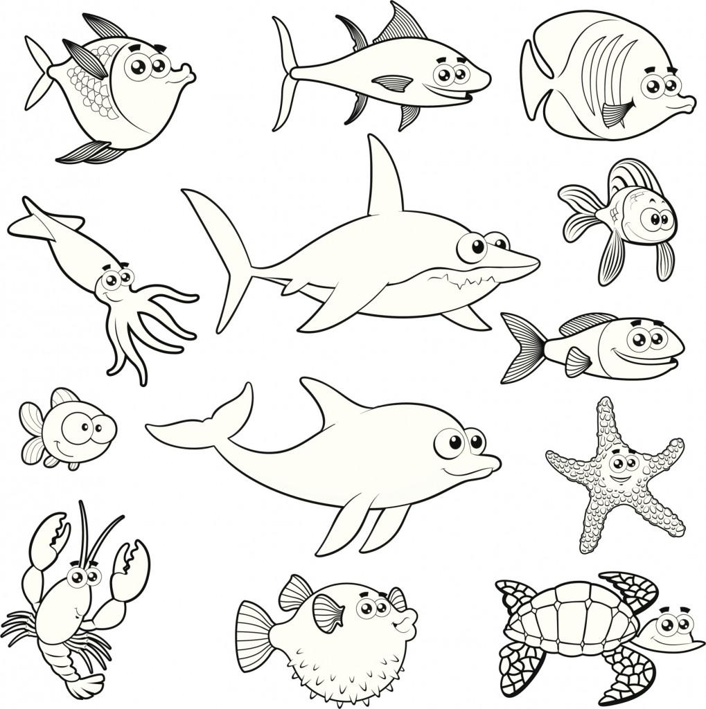 Dibujos De Peces Para Colorear Rincon Util Animal Coloring Pages Marine Animals