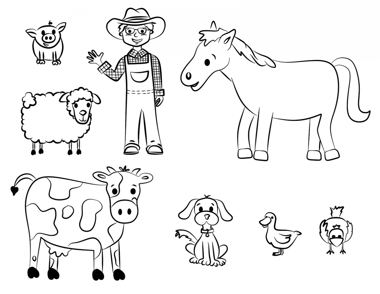 Dibujo Para Colorear De Heihei El Personaje De La: Granja Animales Para Colorear