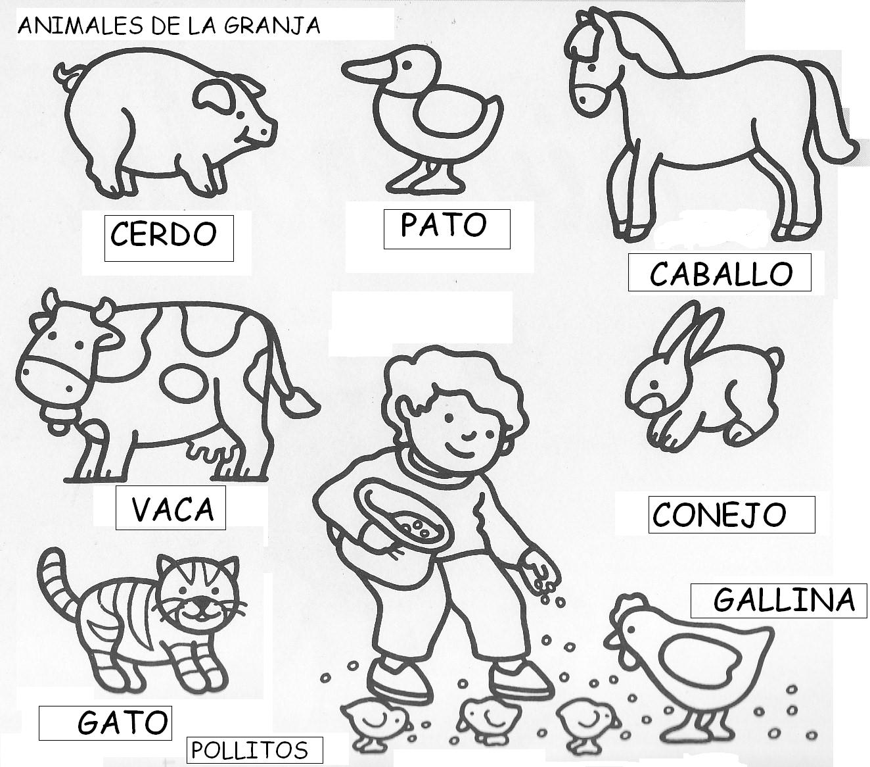 Los animales de la granja colorear - Rincon Util