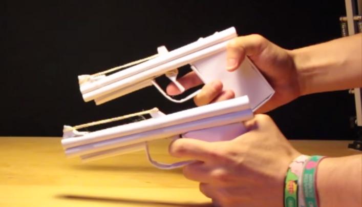 Pistola De Papel Armas Caseras De Papel