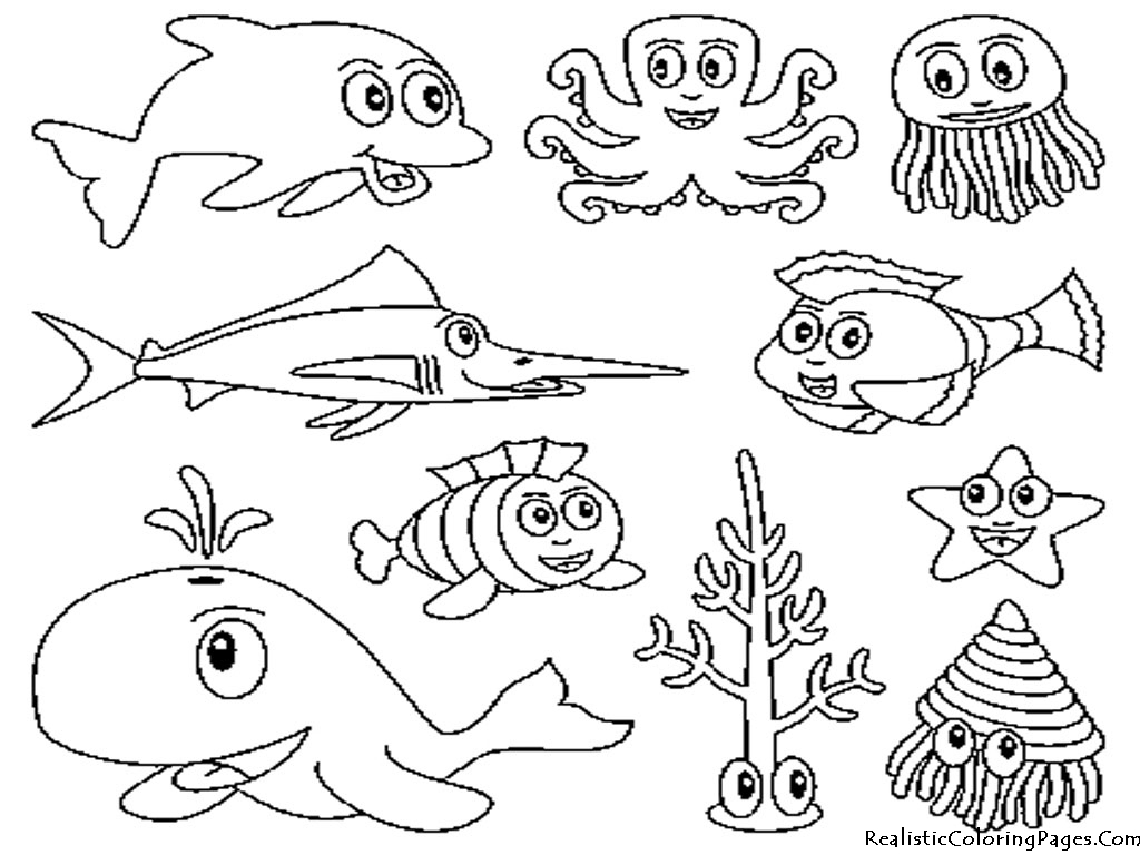 Ocean Animal Printable Coloring Pages. Ocean. Best Free Coloring Pages