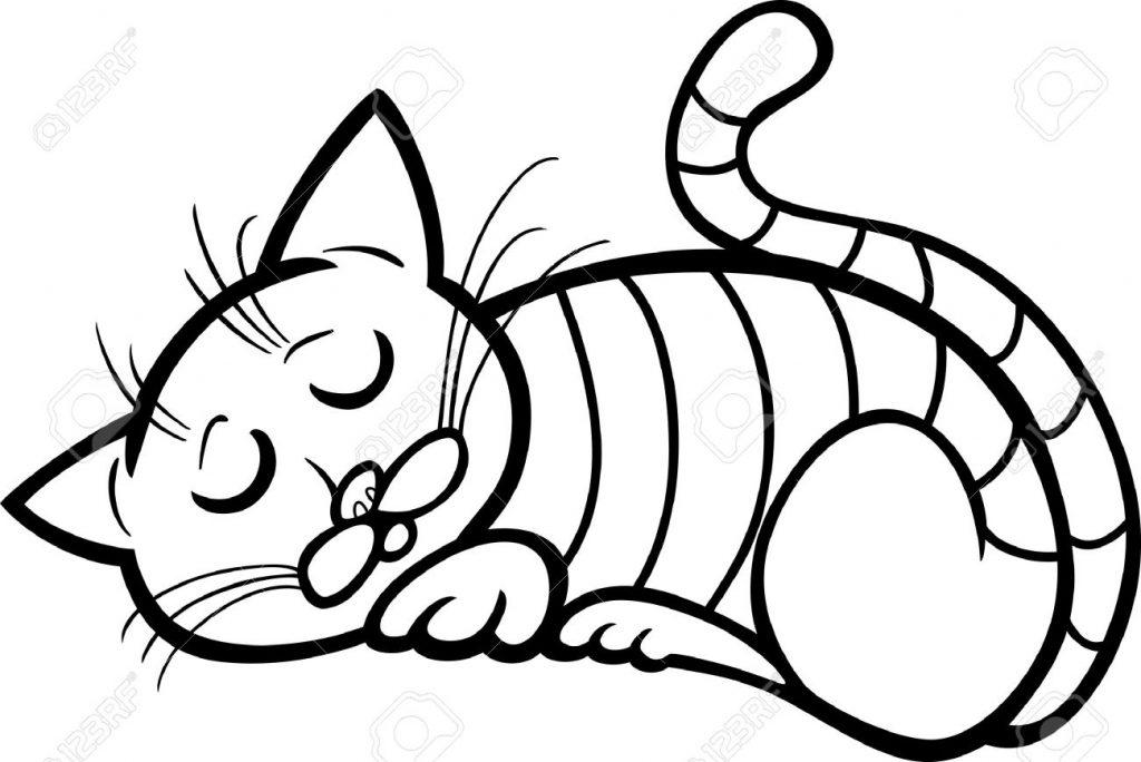 Imagenes y dibujos de gatos para colorear rincon util for Imagenes de un estanque para colorear