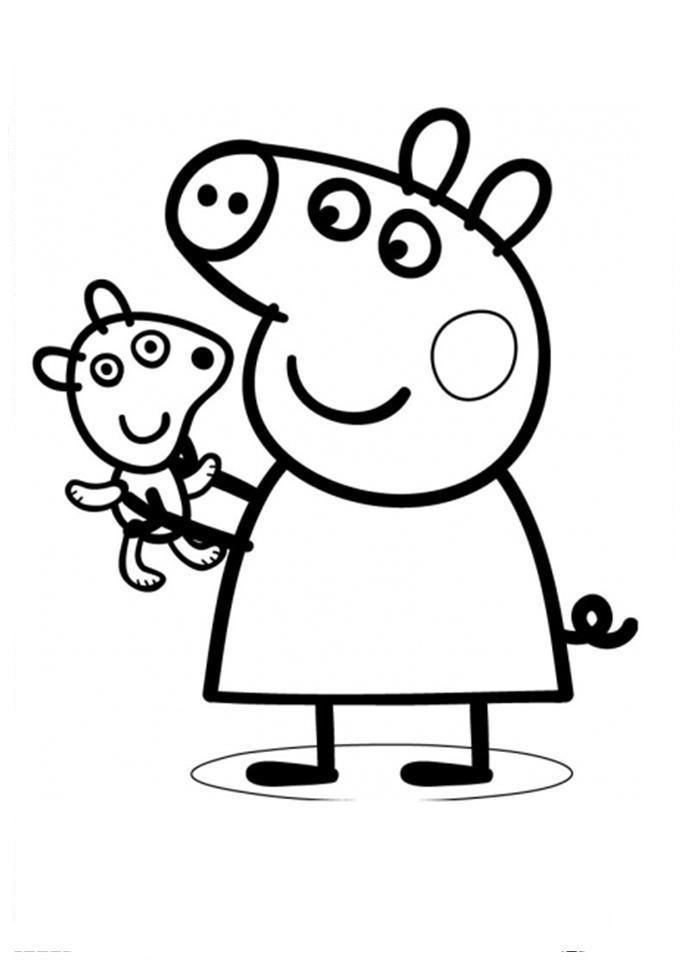 Bonitos Dibujos Peppa Pig Colorear Rincon Util