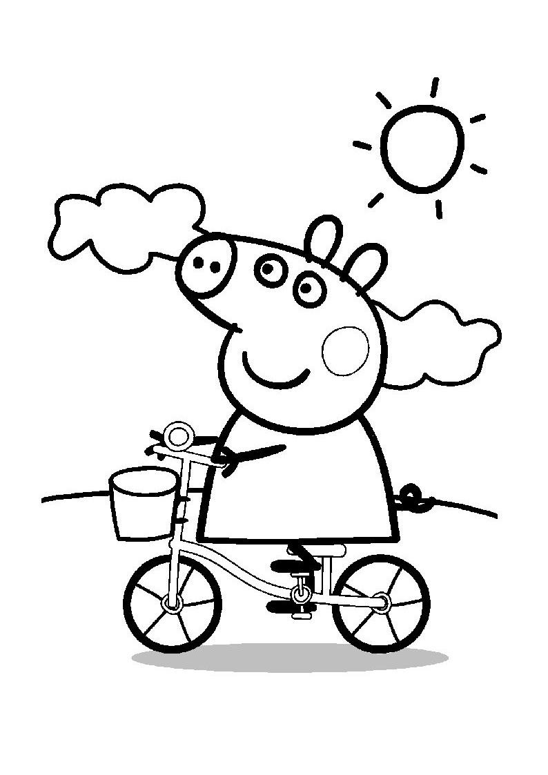 Colorear Dibujos Peppa Pig