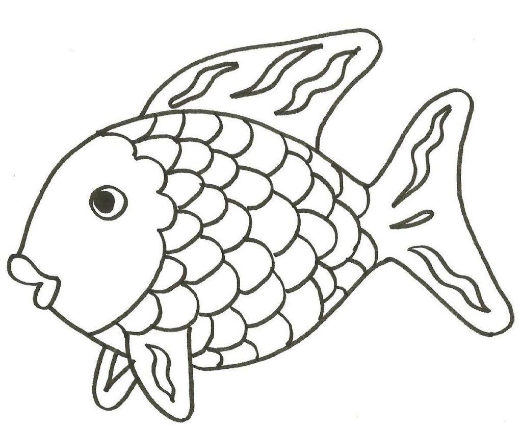 Colorear y pintar un pez - Rincon Util