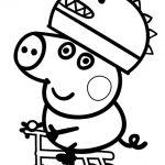 Dibujos Bonitos de Peppa Pig para colorear