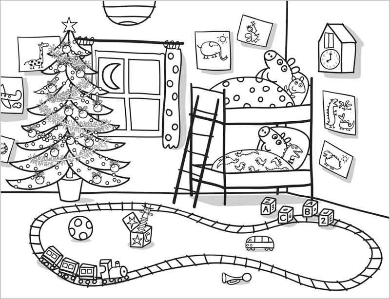 Dibujos Peppa Pig Navidad para colorear   Rincon Util