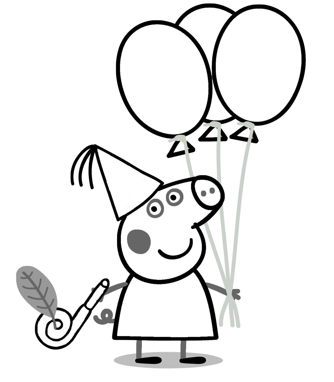 Dibujos Peppa Pig imprimir y colorear   Rincon Util