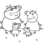 Dibujos Peppa Pig para colorear
