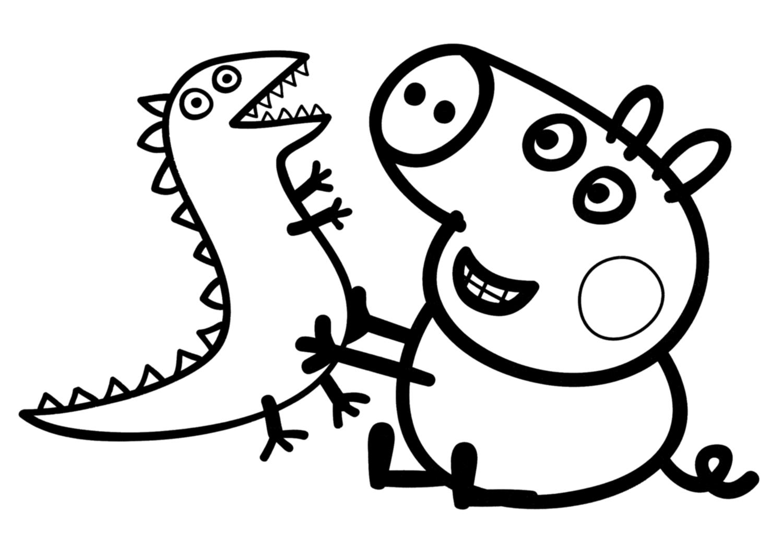 Dibujos Peppa Pig para colorear y Pintar