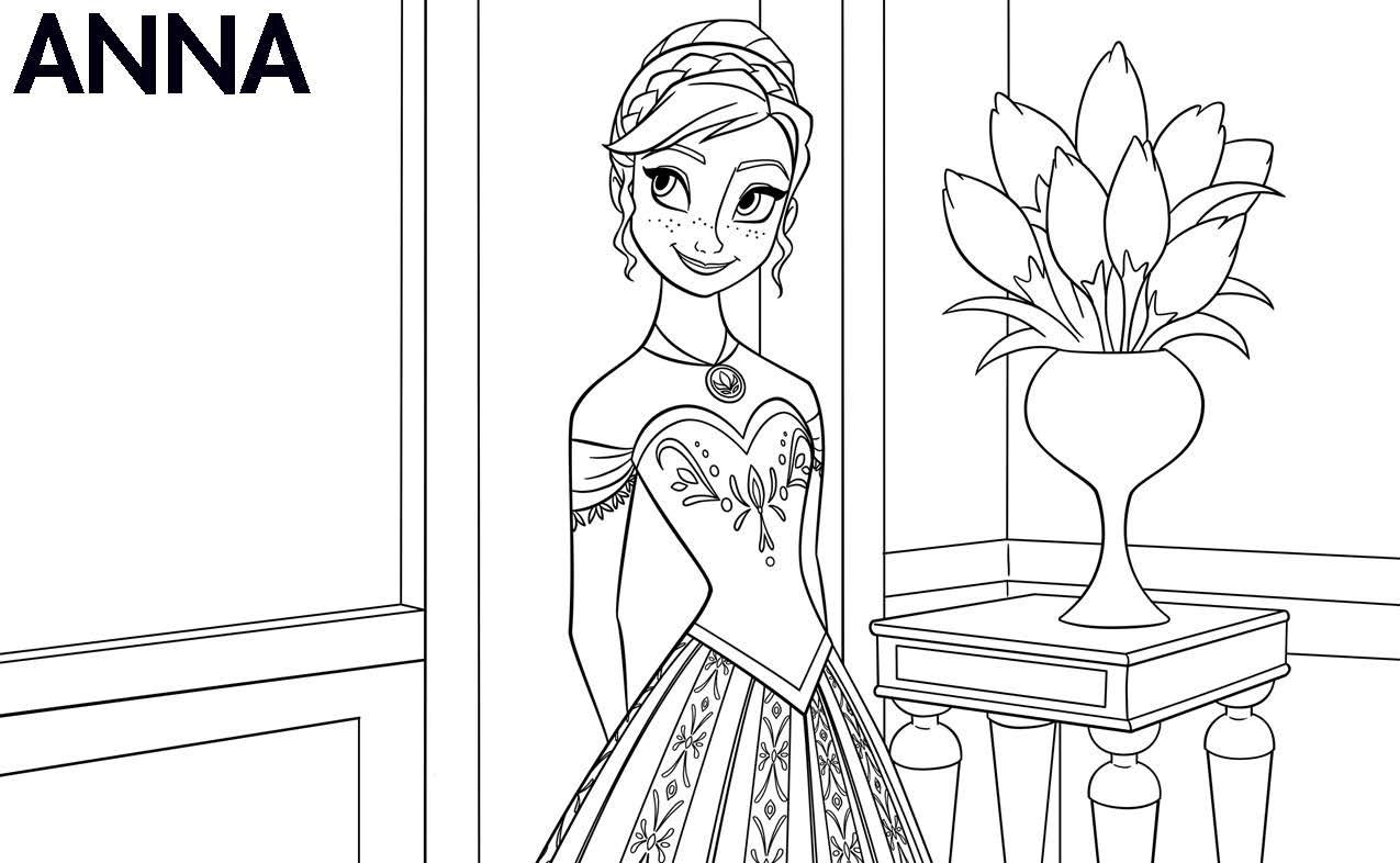 Dibujos de Ana Frozen para colorear