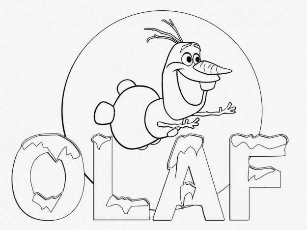Dibujos de Olaf para pintar