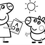 Dibujos de Peppa Pig bonitos para colorear