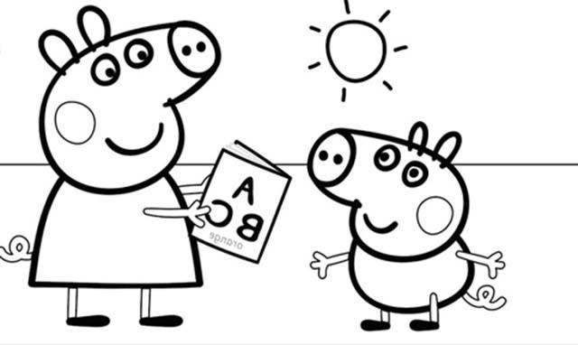 Dibujos De Peppa Pig Bonitos Para Colorear Rincon Util
