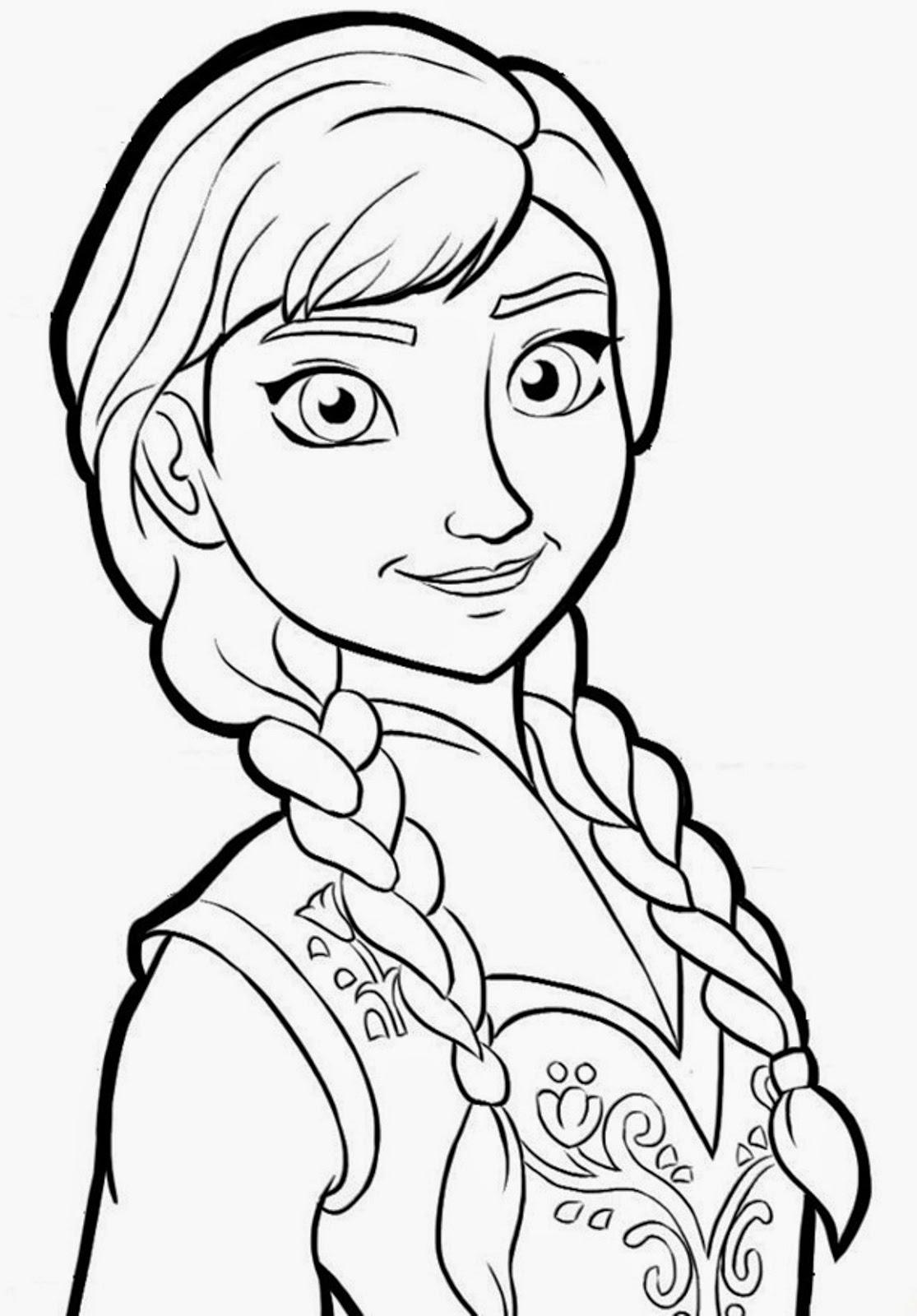 Elsa Dibujos de Frozen para colorear