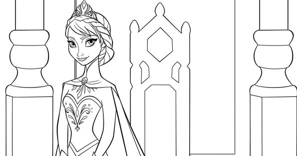 Elsa princesa Frozen colorear