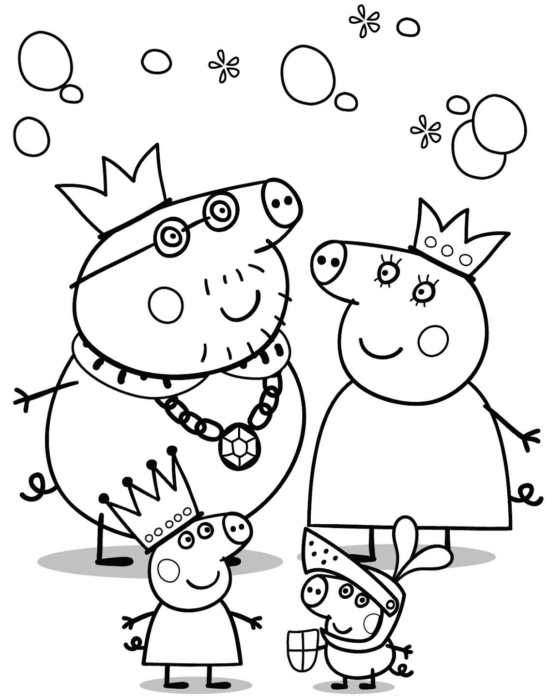 Familia Dibujos Peppa Pig Pintar Rincon Util