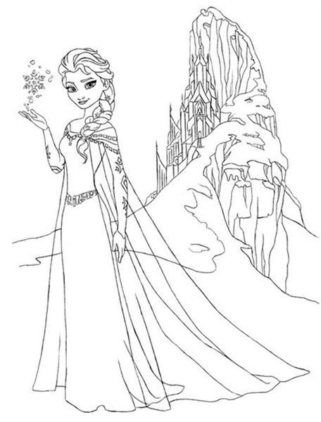 Dibujos Para Colorear Frozen Elsa Con Su Castillo Rincon Util