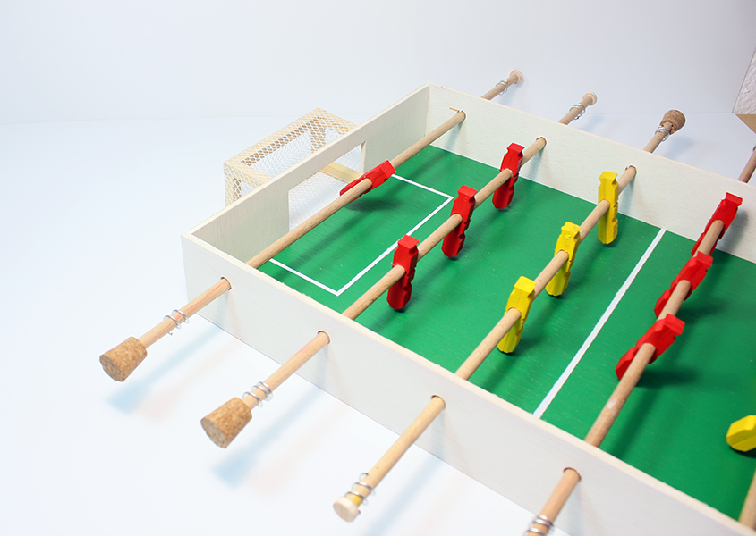 Como Hacer Un Futbolin Casero Juego De Futbol De Mesa