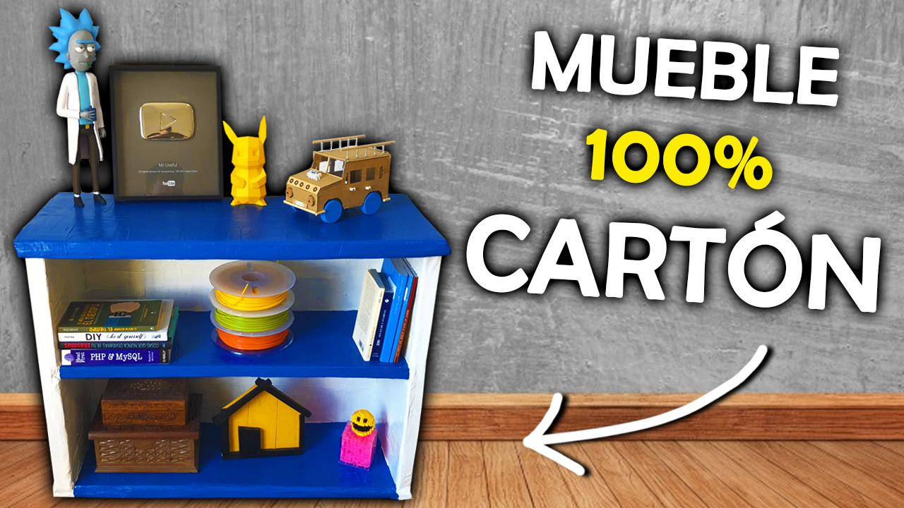 C Mo Hacer Un Mueble De Cart N 100 Materiales Reciclados
