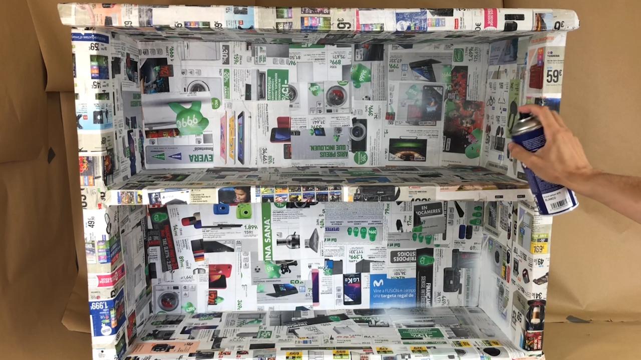 Mueble de Carton Reciclado - 4