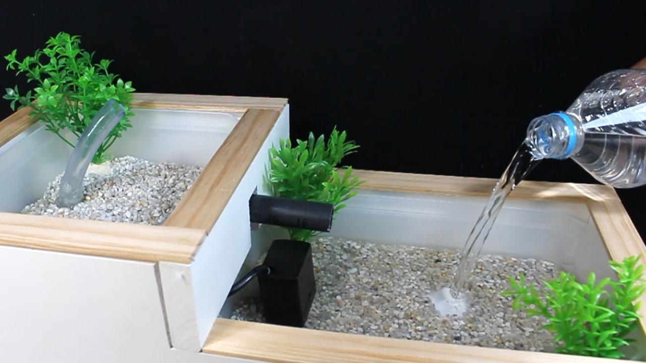 C mo hacer un estanque casero o fuente de agua casera for Estanques caseros