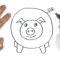 Como dibujar un Cerdo