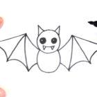 Como dibujar un Murcielago