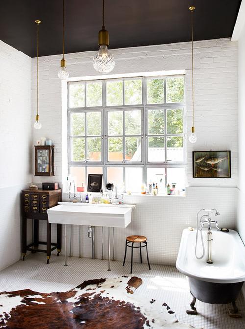 baño paredes ladrillo