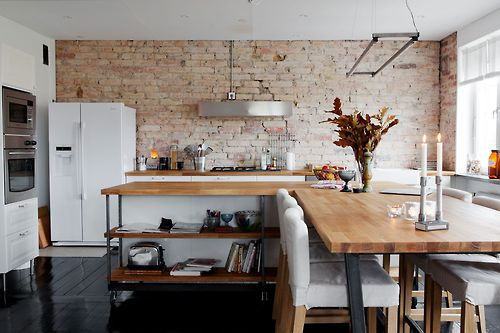 cocina pared ladrillo