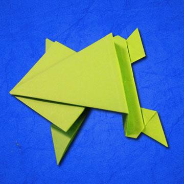Rana Origami Rana de papel