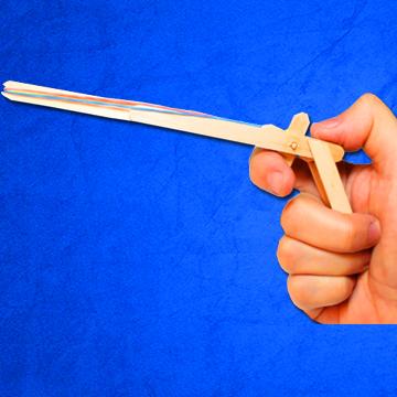 Armas caseras Pistola de gomitas elasticas