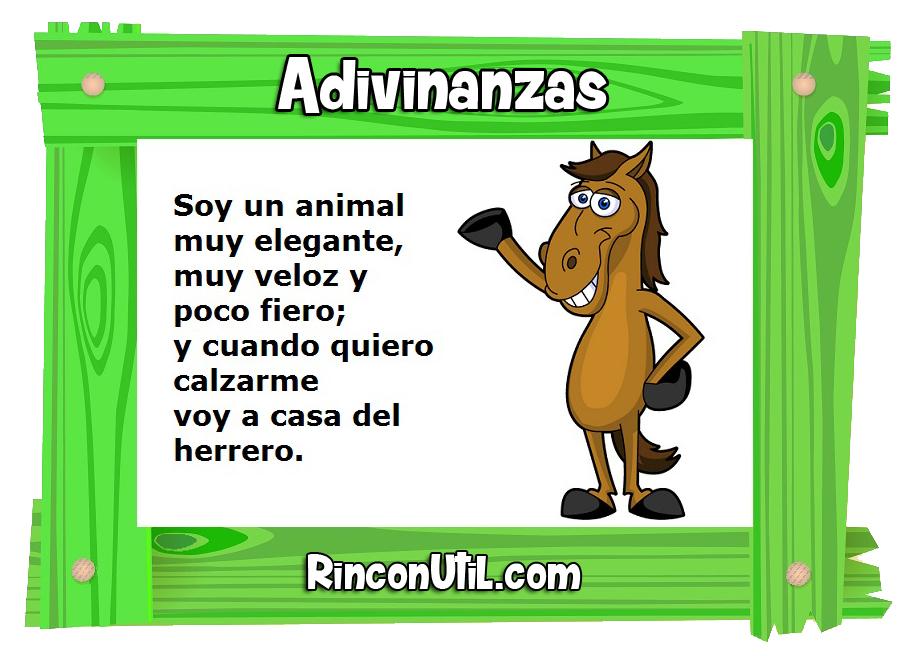 Adivinanzas de animales para pequeños