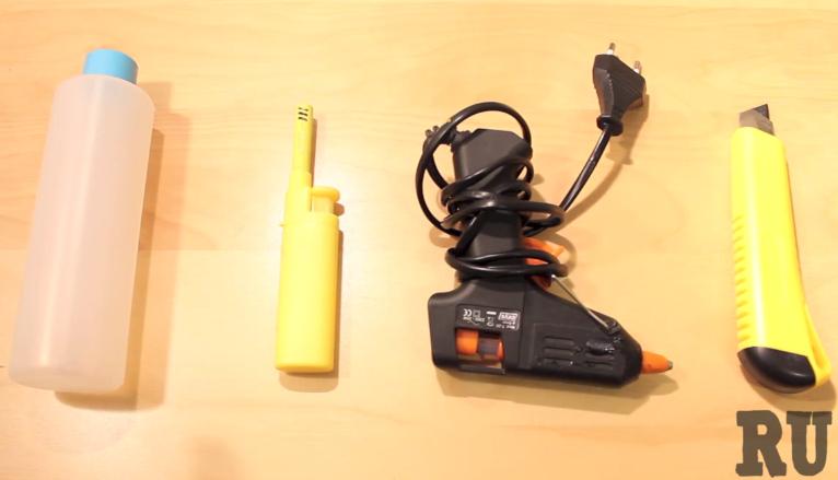 Materiales pistola casera